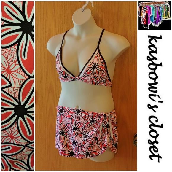 ffa29d245f JAG Swim | Tropical Halter Sarong Bikini Sz 1214 | Poshmark